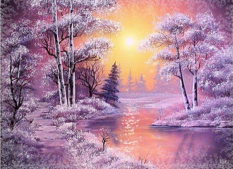 Гифка зимние пейзажи